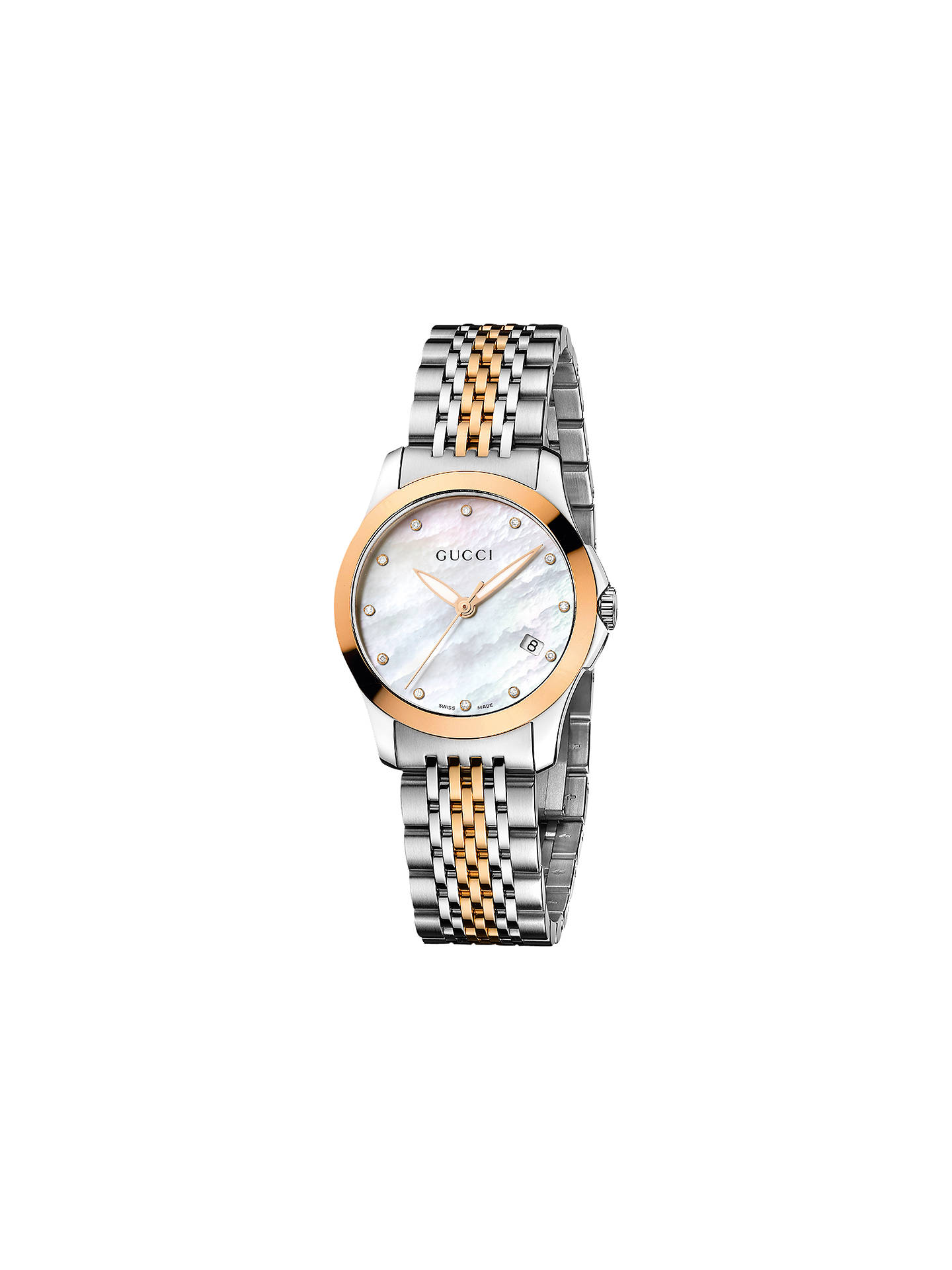 bcb83f8e3db Buy Gucci YA126514 Women s G-Timeless Mother of Pearl Diamond Bracelet  Strap Watch