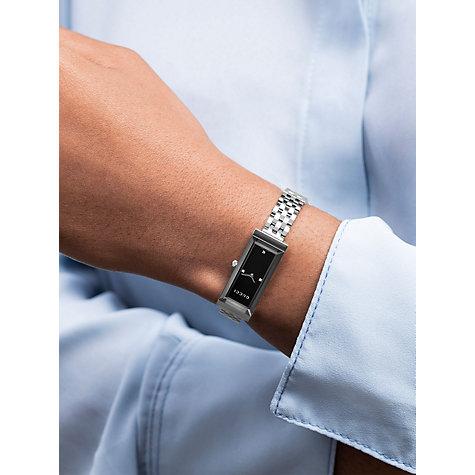 Buy Gucci YA Women s G Frame Rectangular Diamond Set Dial