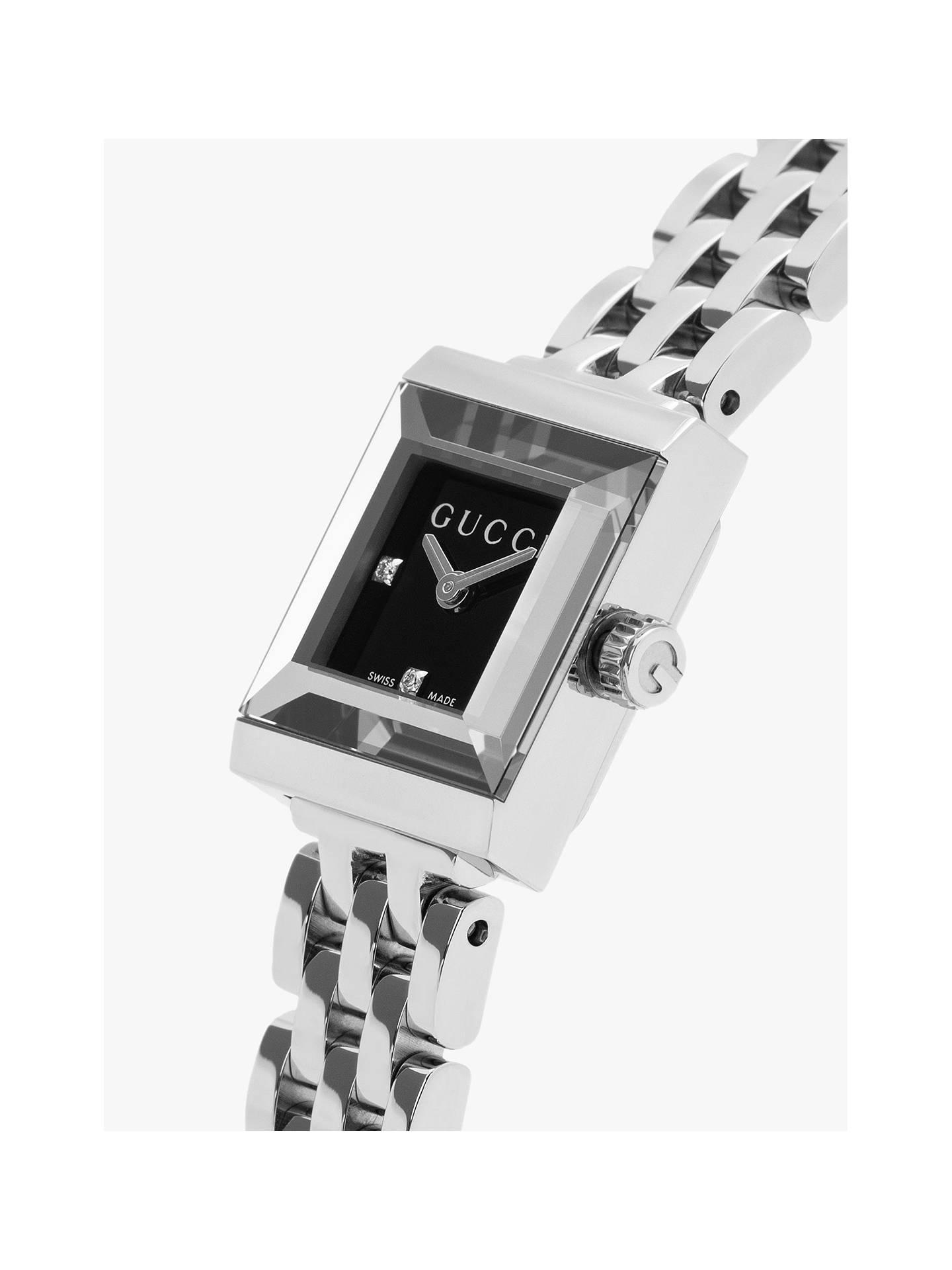 913651db329 ... Buy Gucci YA128507 Women s G-Frame Square Dial Bracelet Strap Watch