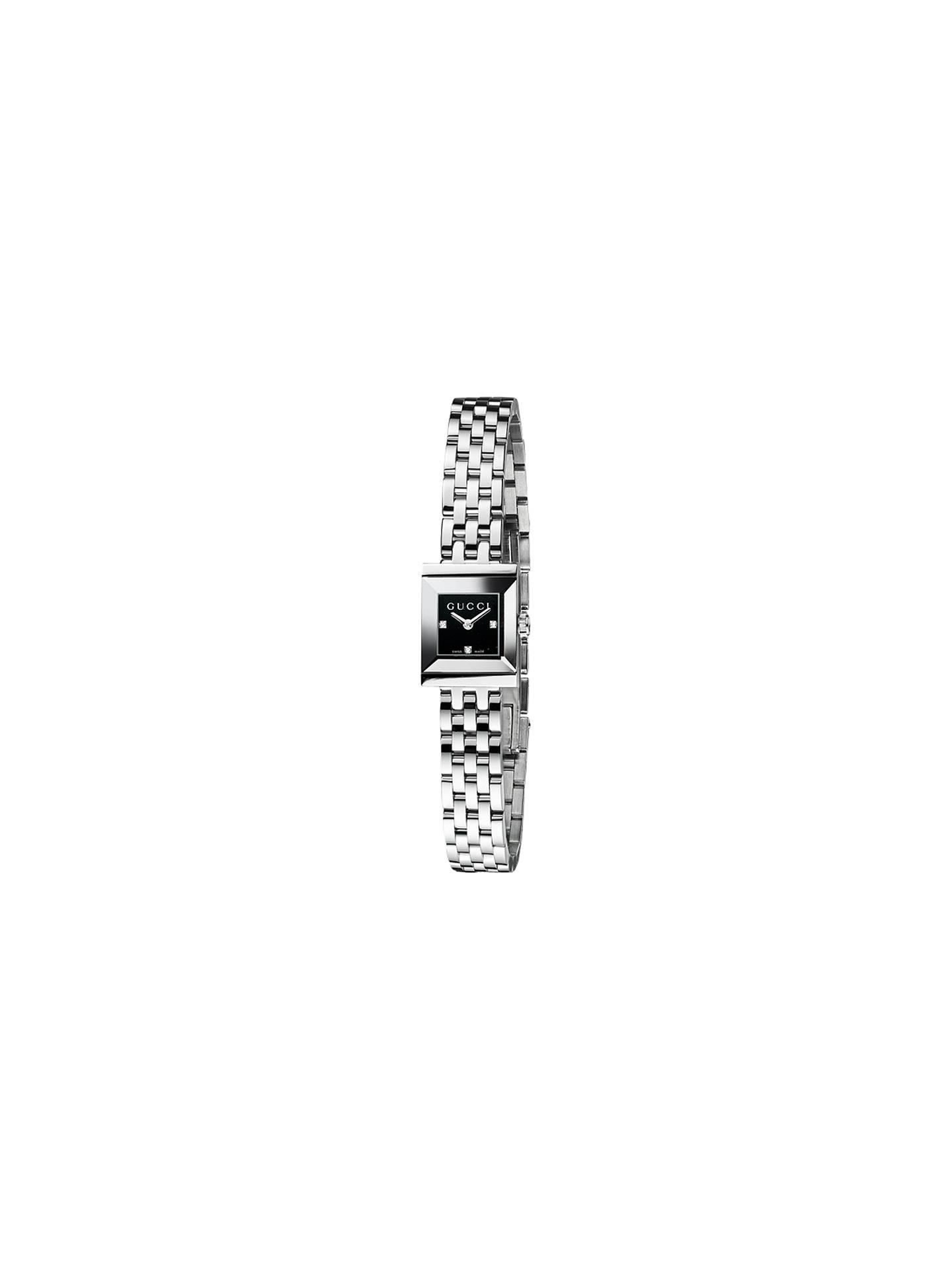 bf2985314fb Gucci YA128507 Women s G-Frame Square Dial Bracelet Strap Watch ...