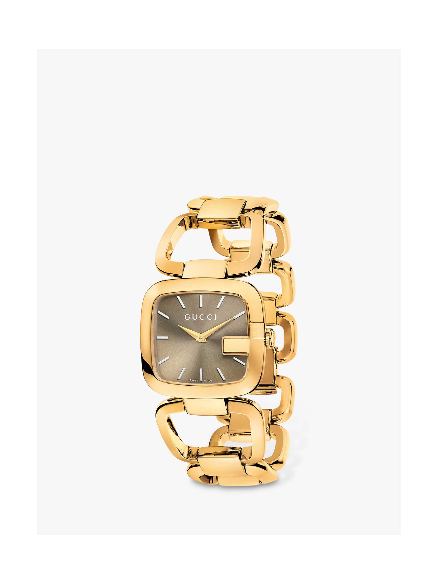 9d7695bca09 Gucci YA125408 Women s G-Gucci Gold Plated Bracelet Strap Watch ...
