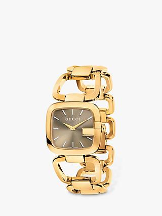 774226ce301 Gucci YA125408 Women s G-Gucci Gold Plated Bracelet Strap Watch