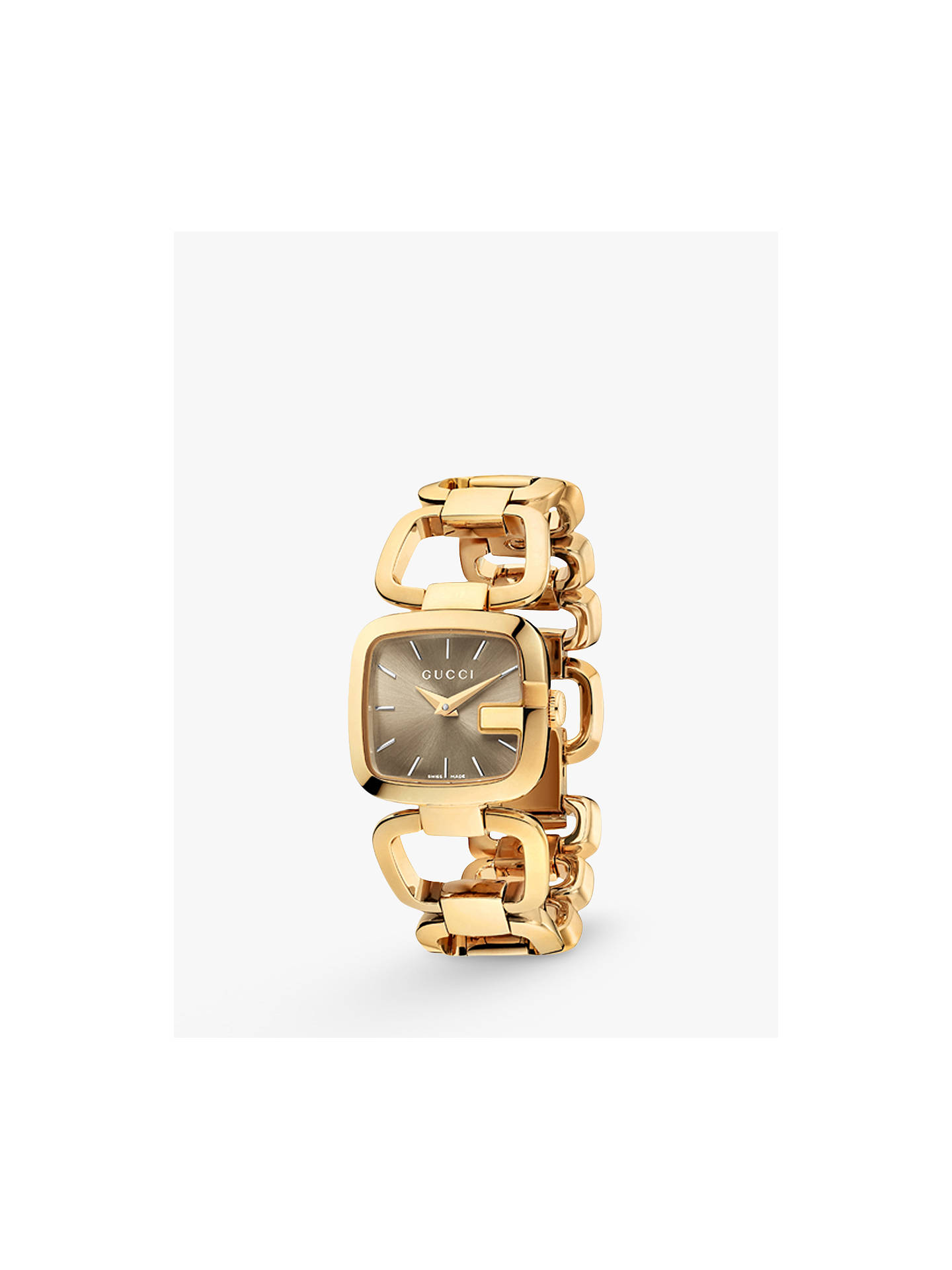 17f8dac27 Buy Gucci YA125511 Women's I-Gucci Square Gold Plated Bracelet Strap Watch,  Gold/ ...