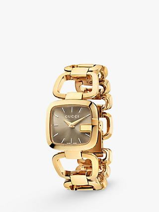 19ecab92d3f Gucci YA125511 Women s I-Gucci Square Gold Plated Bracelet Strap Watch