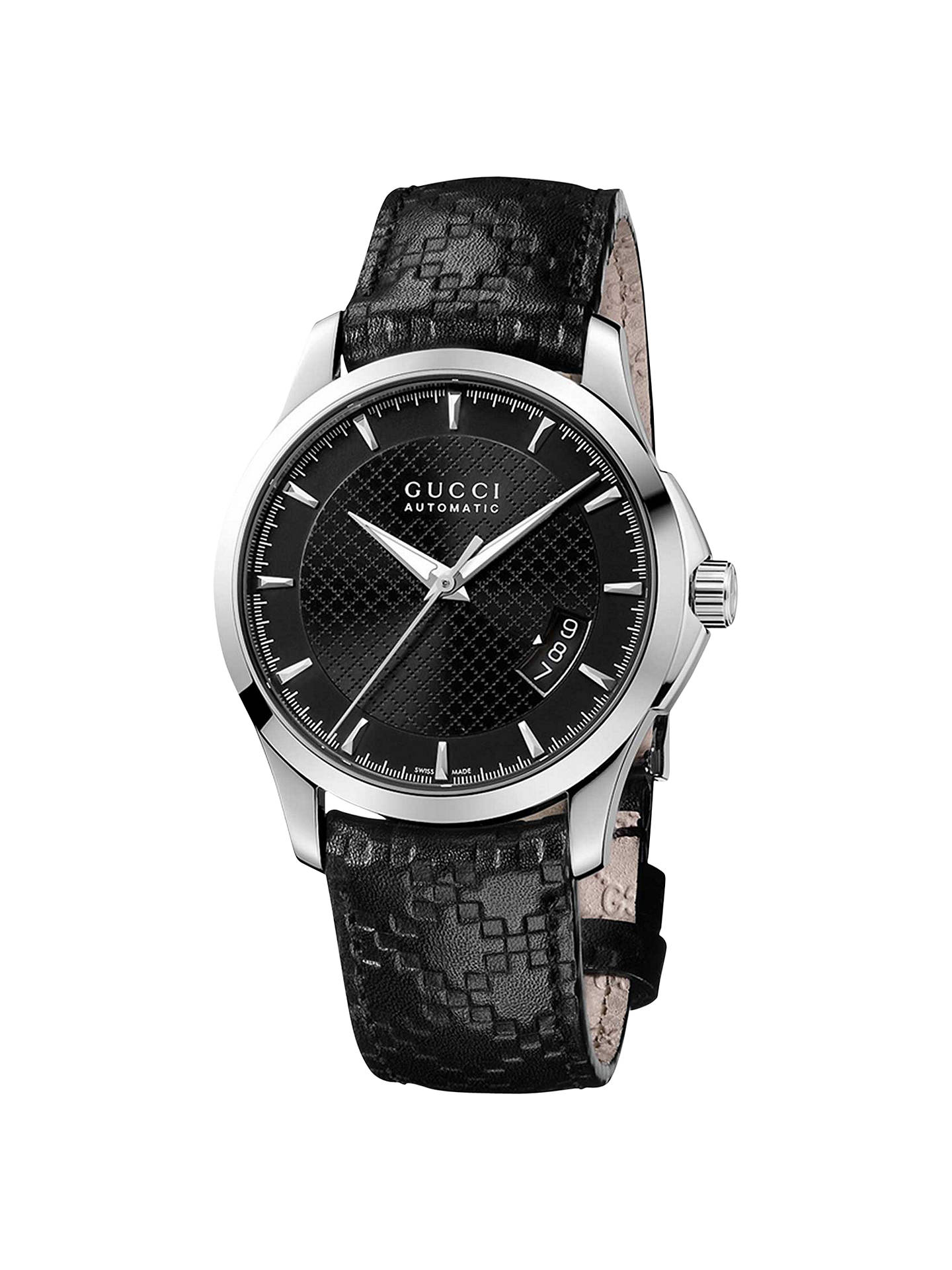 3415ae687cf Buy Gucci YA126413 G-Timeless Men s Automatic Leather Strap Watch