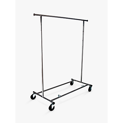 Product photo of John lewis chrome collapsible clothes rail