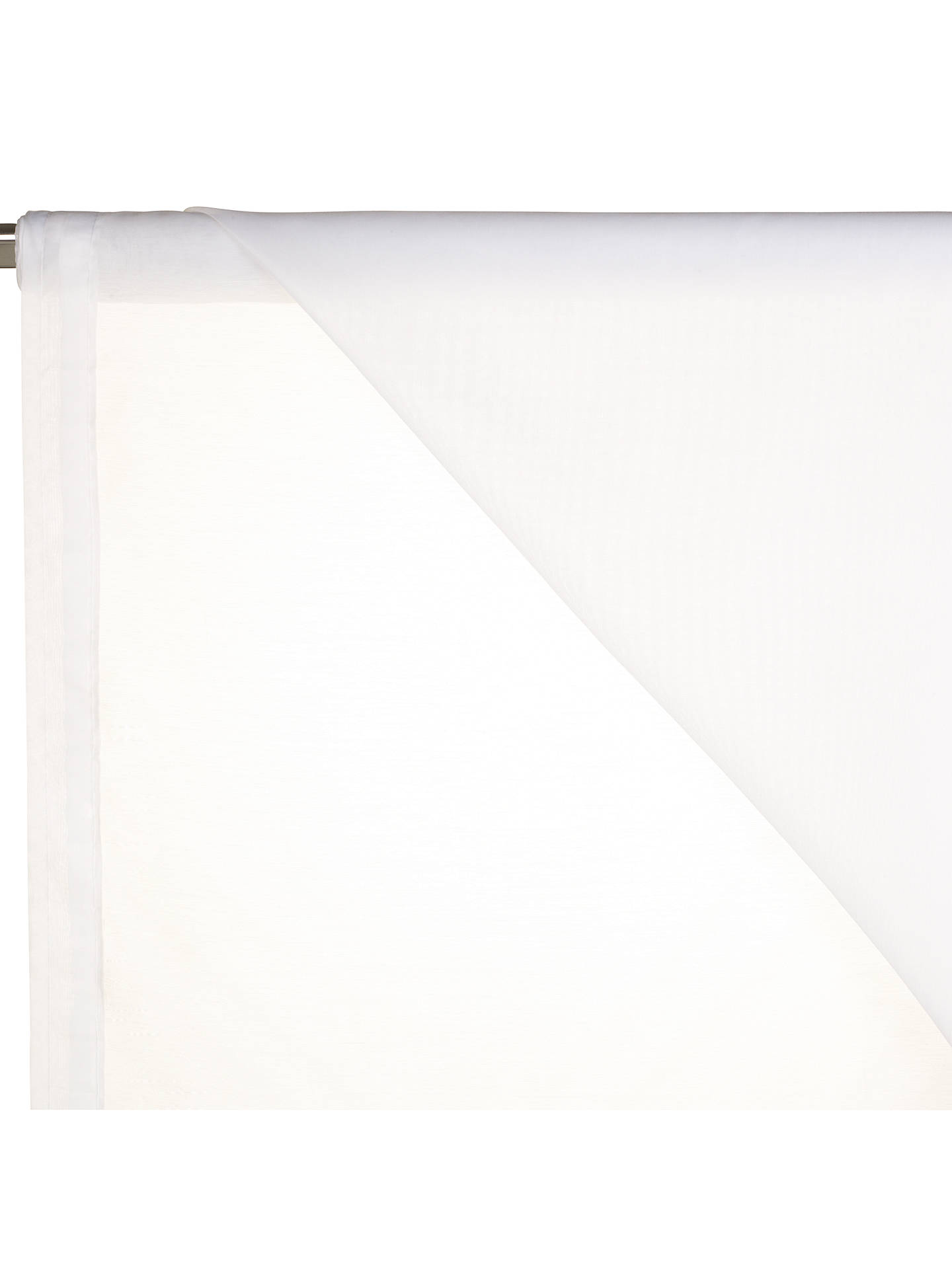 Buy John Lewis & Partners Peru Slot Headed Voile Fabric, White, Drop 101cm Online at johnlewis.com