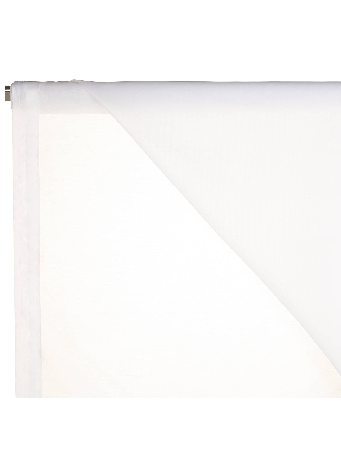BuyJohn Lewis & Partners Peru Slot Head Voile Fabric, White, Drop 183cm Online at johnlewis.com