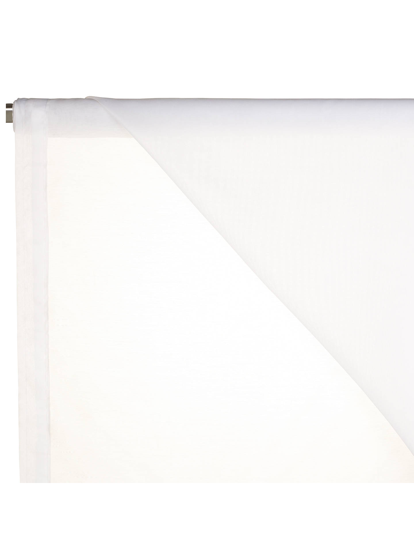 BuyJohn Lewis & Partners Peru Slot Headed Voile Fabric, White, Drop 228cm Online at johnlewis.com