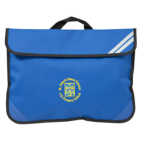 Buy St Peter's Eaton Square C of E Primary School Book Bag, Blue ...