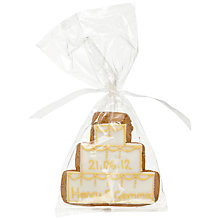 Buy Image on Food Personalised Cake Gingerbread Biscuit, Gold, Pack of 24 Online at johnlewis.com
