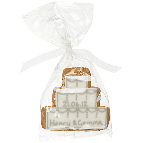 Buy Image on Food Personalised Cake Gingerbread Biscuit, Silver, Pack of 24 Online at johnlewis.com