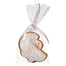 Buy Image on Food Personalised Baby Pram Gingerbread, Pink, Pack of 24 Online at johnlewis.com
