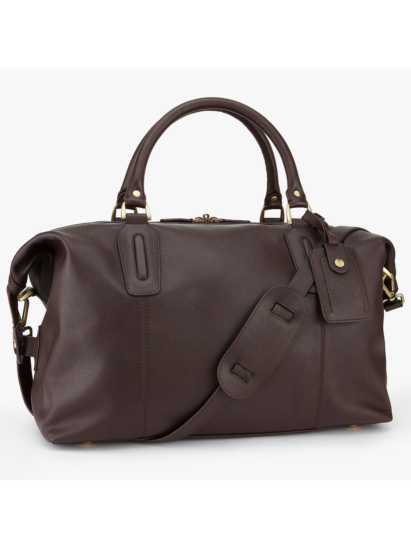 BuyJohn Lewis & Partners Oxford Leather Explorer Holdall, Brown Online at johnlewis.com