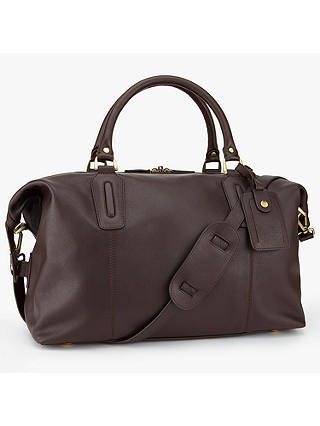 Buy John Lewis & Partners Oxford Leather Explorer Holdall, Brown Online at johnlewis.com