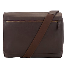 Buy John Lewis Oxford Leather Messenger Bag, Brown Online at johnlewis.com