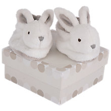 Buy Doudou et Compagnie Baby Rabbit Booties Gift Box, Brown Online at johnlewis.com