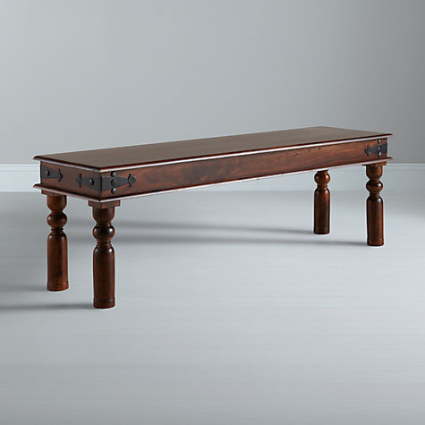 Buy John Lewis Maharani 3-Seater Dining Bench, Dark Stain Online at johnlewis.com