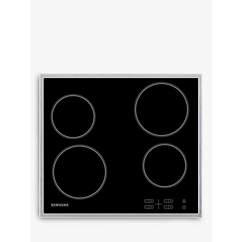 Buy Samsung C61R1AAMST Ceramic Hob, Stainless Steel Online at johnlewis.com