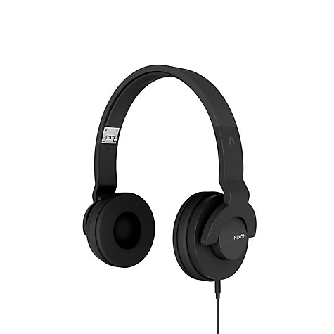 Buy Nixon 'The Stylus' On-Ear Headphones with Microphone, Black Online at johnlewis.com