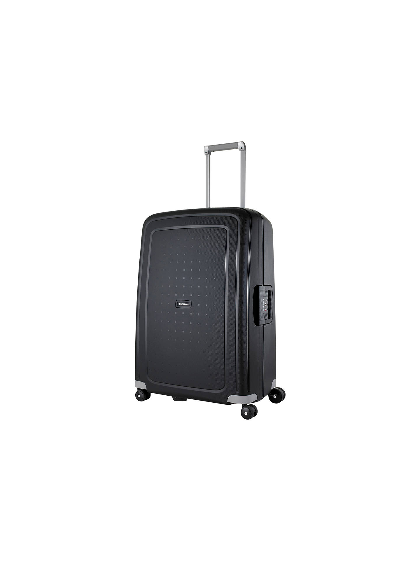ce68615db00 Buy Samsonite S-Cure 4-Wheel 69cm Medium Suitcase, Black Online at  johnlewis ...