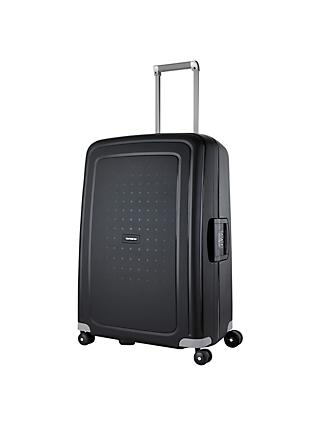 Samsonite S-Cure 4-Wheel 69cm Medium Suitcase, Black