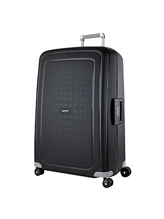 Samsonite S'Cure 4-Wheel 75cm Suitcase, Black