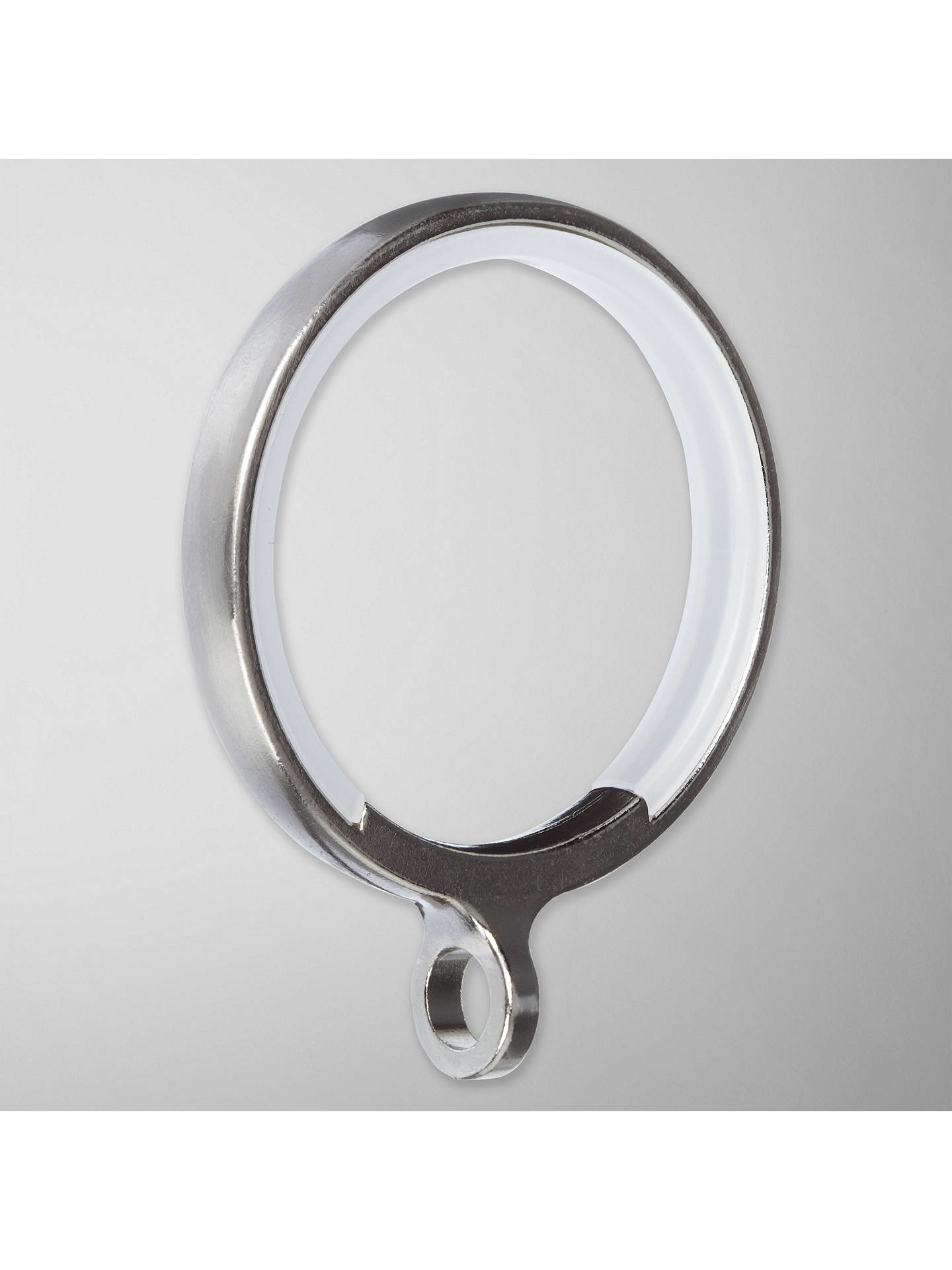 BuyJohn Lewis & Partners Steel Curtain Rings, Pack of 6, Dia.19mm Online at johnlewis.com