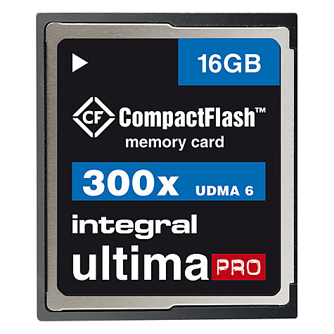 Buy Integral Ultima Pro UDMA 6 300x CompactFlash Memory Card, 16GB Online at johnlewis.com