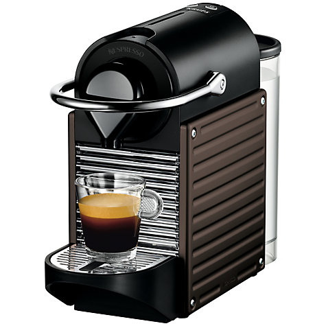 Buy Nespresso Pixie Coffee Maker by KRUPS, Brown Online at johnlewis.com