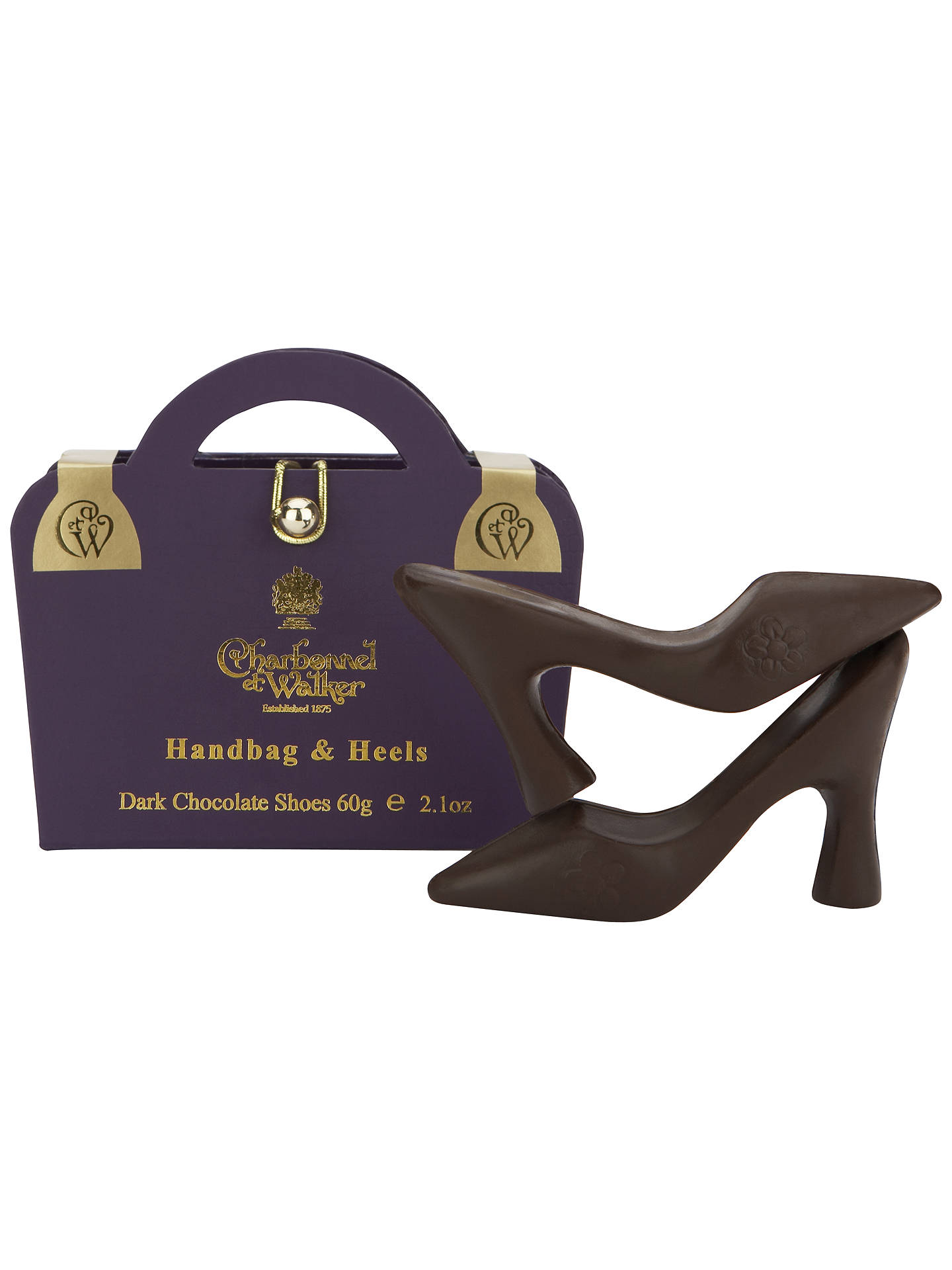 Buy Charbonnel et Walker Handbag and Heels Dark Chocolate, 60g Online at johnlewis.com