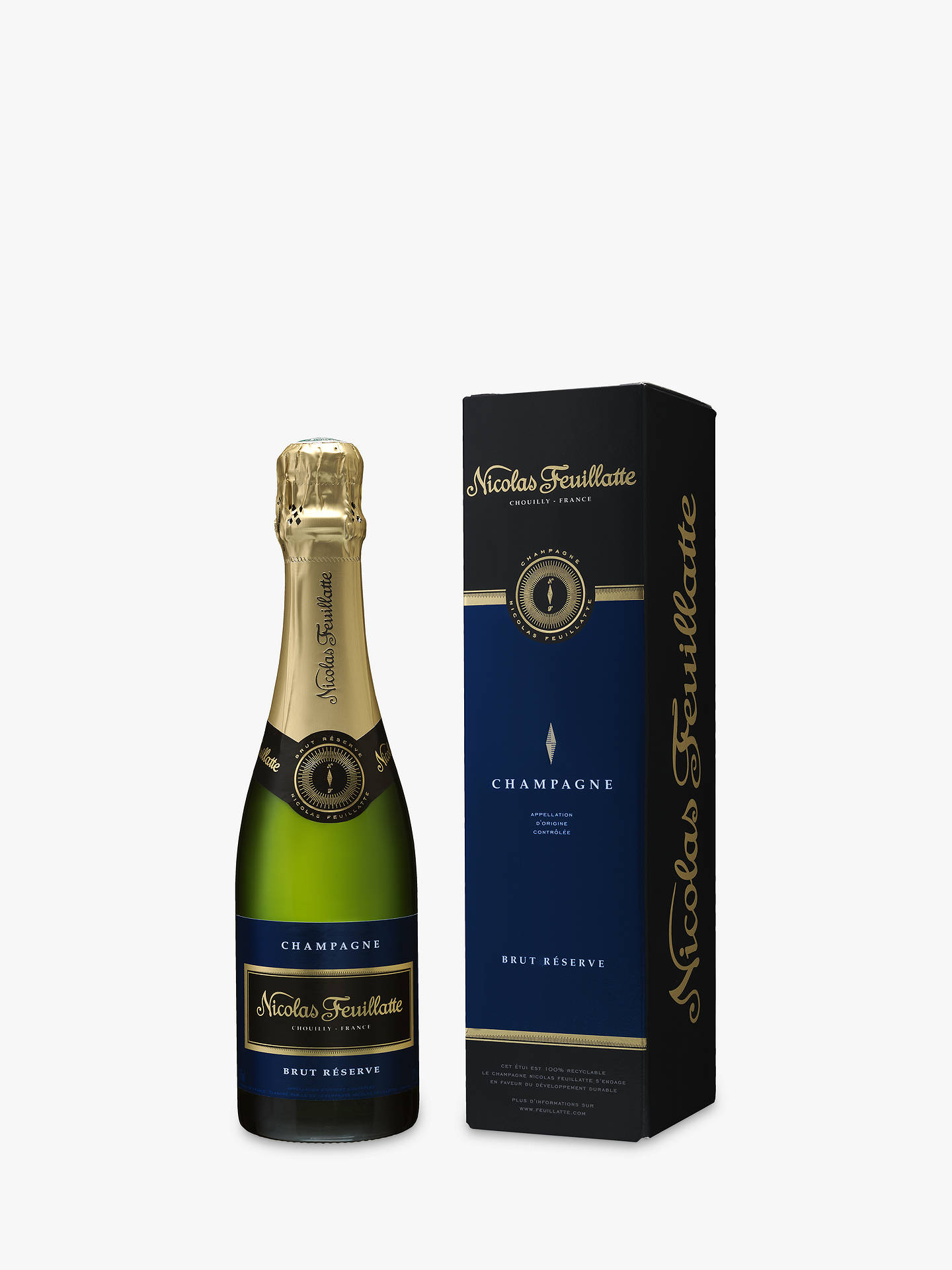 BuyNicolas Feuillatte Brut Reserve Champagne, 37.5cl Online at johnlewis.com