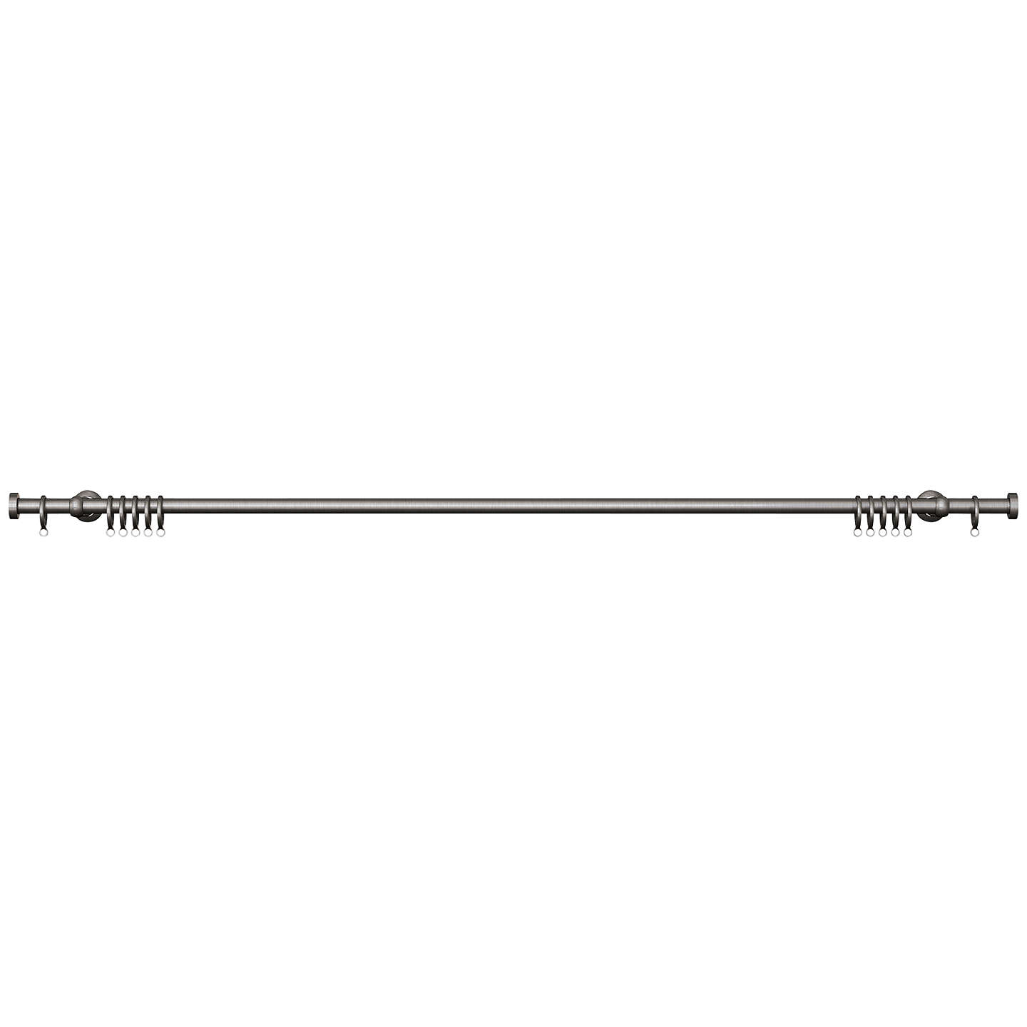 BuyJohn Lewis Steel Curtain Pole Kit, Traditional Brackets, L180cm x Dia.19mm Online at johnlewis.com