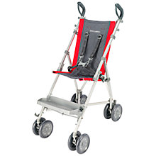 Buy Maclaren Major Elite Pushchair, Charcoal and Scarlet Online at johnlewis.com