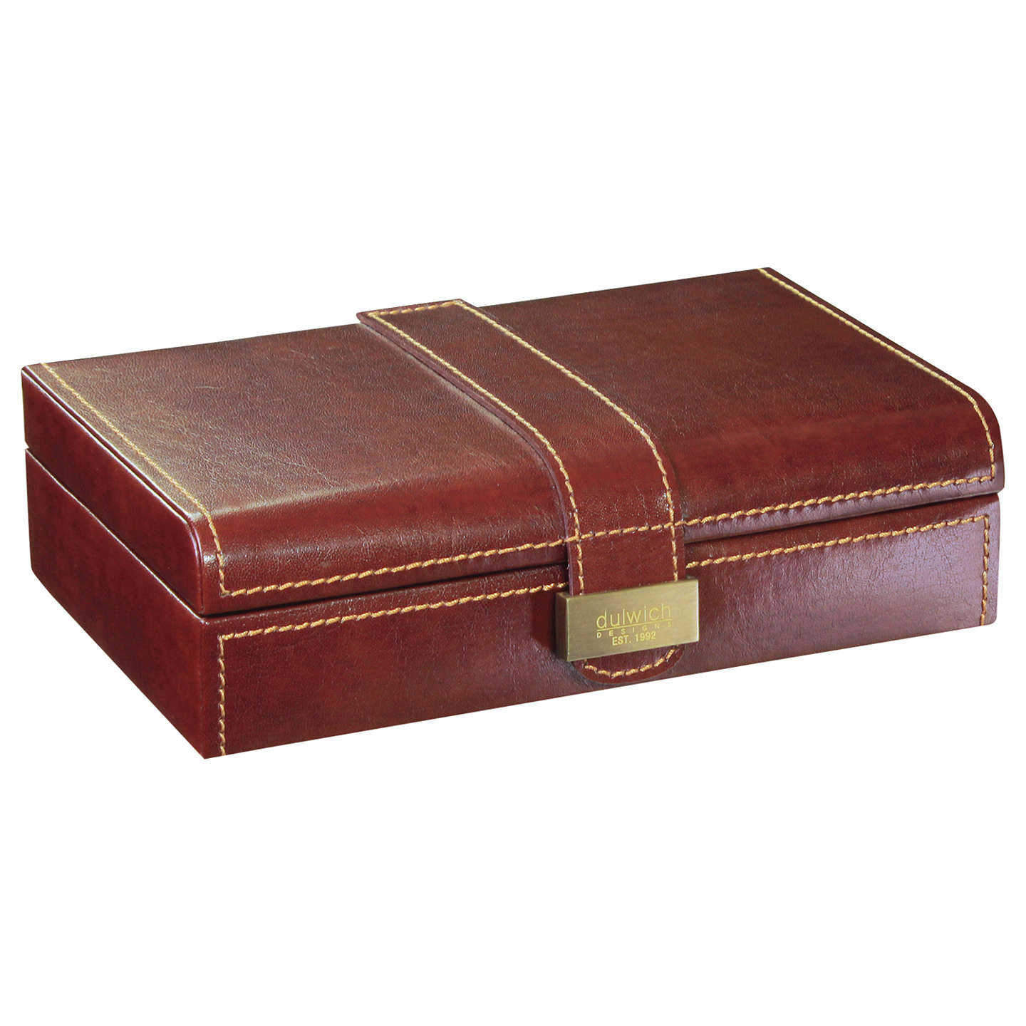 BuyDulwich Designs Heritage Cufflink Box, Leather, Brown Online at johnlewis.com