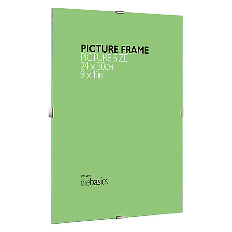 "Buy John Lewis The Basics Clip Frame, 9 x 11"" (30 x 24cm) Online at johnlewis.com"
