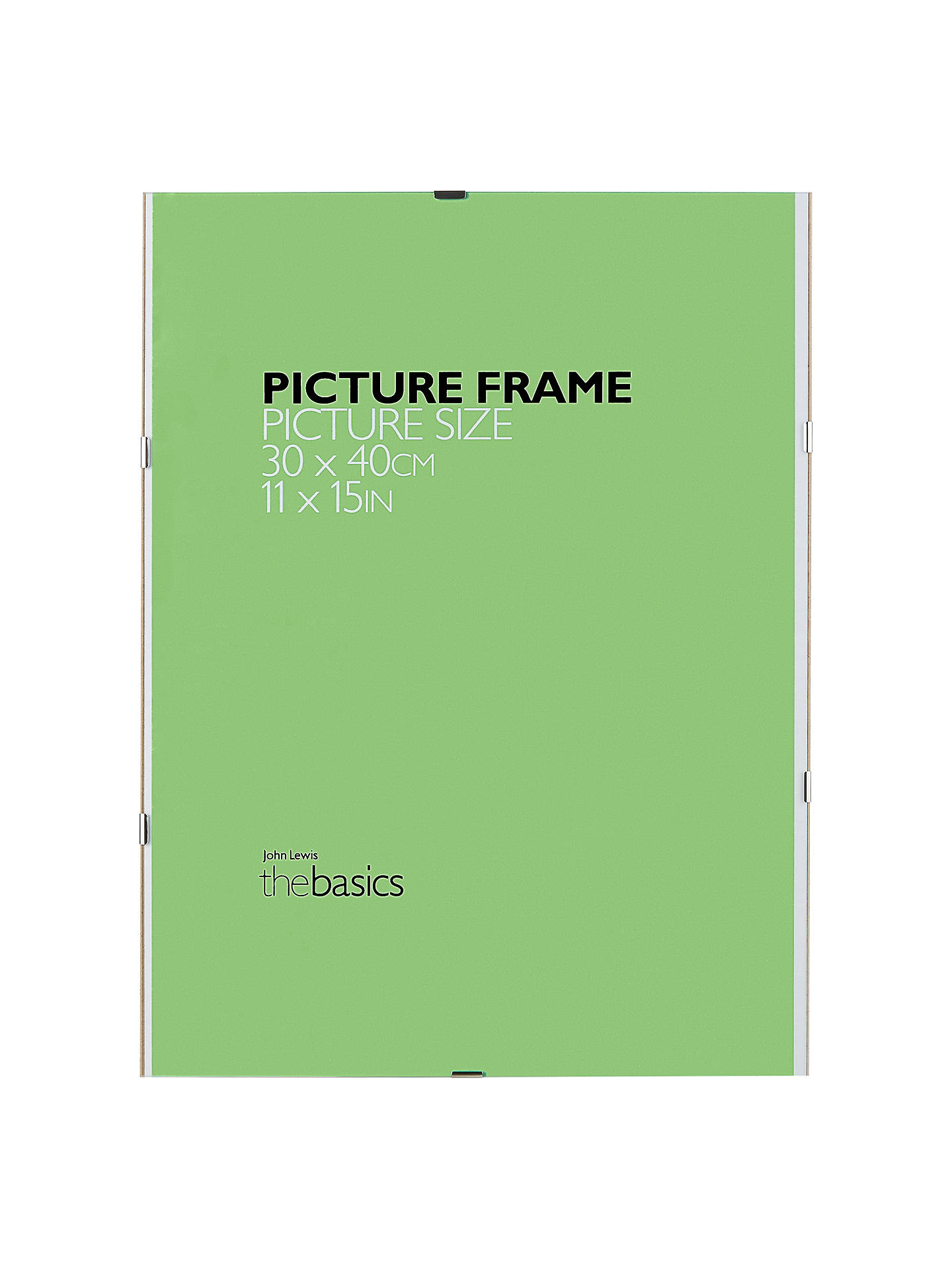 John Lewis Partners The Basics Clip Frame 11 X 15 30 X 40cm At