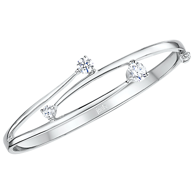 Product photo of Jools by jenny brown overlapping cubic zirconia hinged bangle