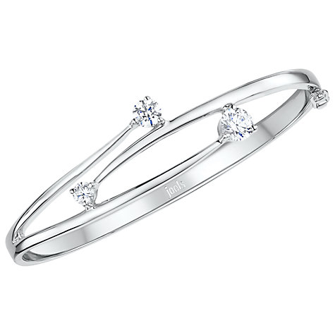 Buy Jools by Jenny Brown Overlapping Cubic Zirconia Hinged Bangle Online at johnlewis.com