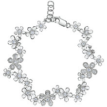 Buy Jools by Jenny Brown Cubic Zirconia Flower Bracelet, Silver Online at johnlewis.com