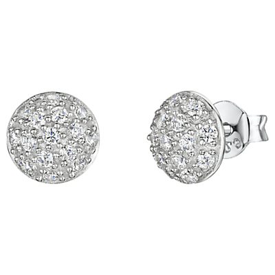 Product photo of Jools by jenny brown pave set cubic zirconia stud earrings silver
