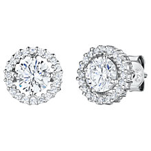 Buy Jools by Jenny Brown Cubic Zirconia Double Diamonte Circle Stud Earrings, Silver Online at johnlewis.com