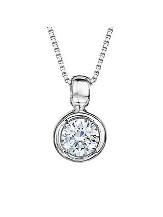 Jools by Jenny Brown Cubic Zirconia Round Pendant Necklace, Silver