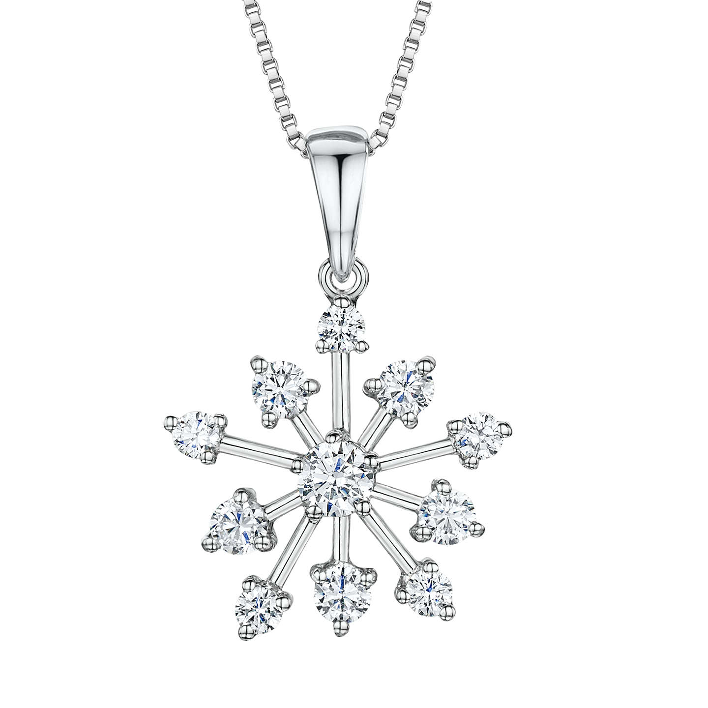 im my charm own products silver in m sterling necklace snowflake i