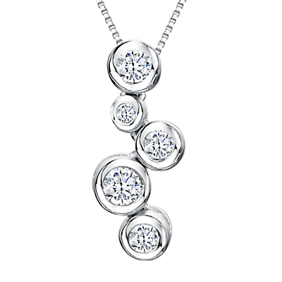 Image of Jools by Jenny Brown Cubic Zirconia 5 Circle Pendant Necklace, Silver