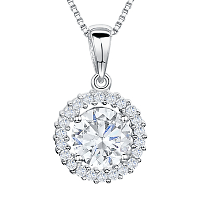 Image of Jools by Jenny Brown Cubic Zirconia Pendant Necklace, Silver