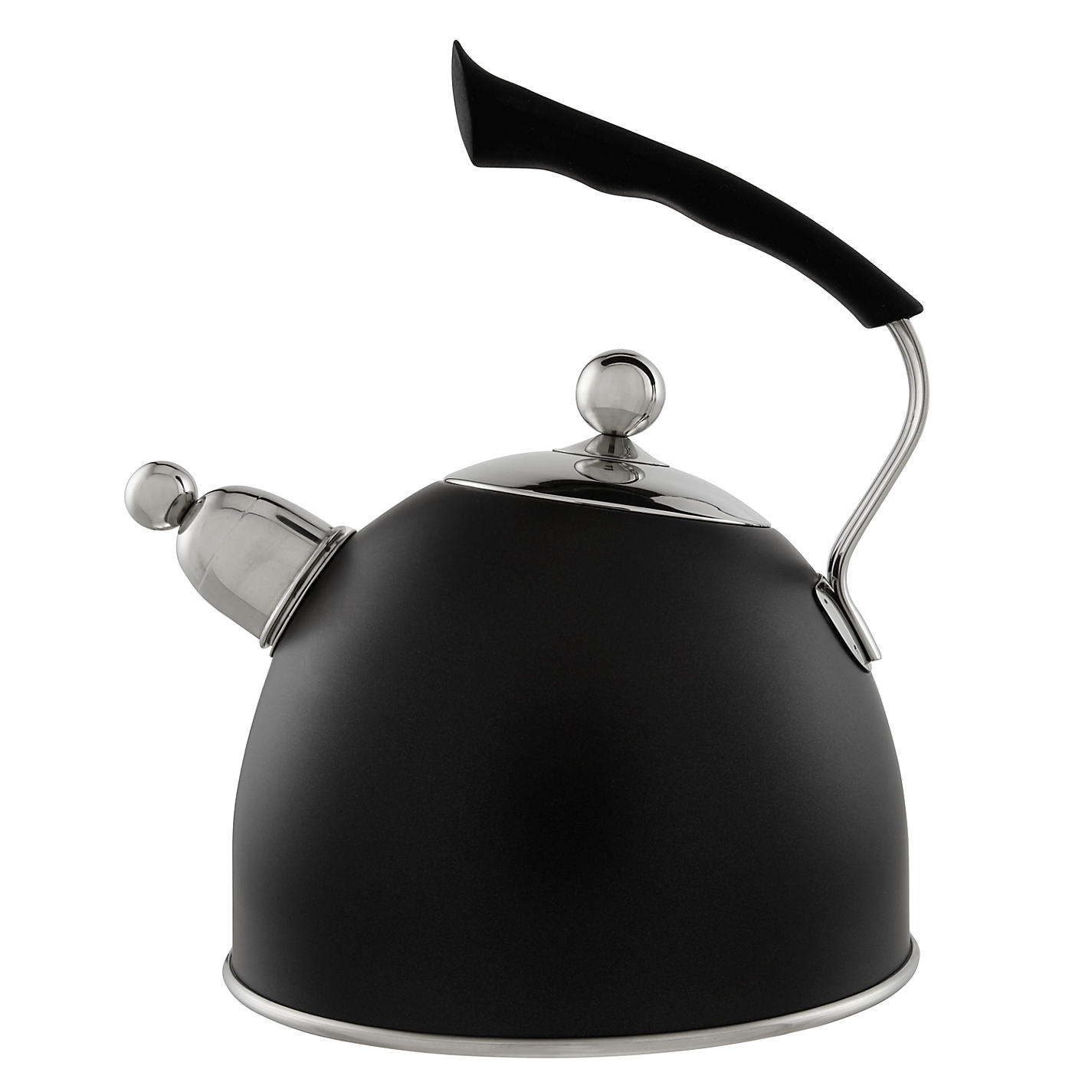 buy john lewis stovetop whistling kettle black  john lewis - buy john lewis stovetop whistling kettle black online at johnlewiscom