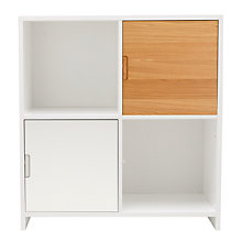 Buy House by John Lewis Oxford 2 x 2 Cube Unit with 2 Cupboard Doors Set, White / Oak Online at johnlewis.com