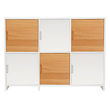 Buy House by John Lewis Oxford 3 x 2 Cube Unit with 6 Cupboard Doors, White/ Oak Online at johnlewis.com