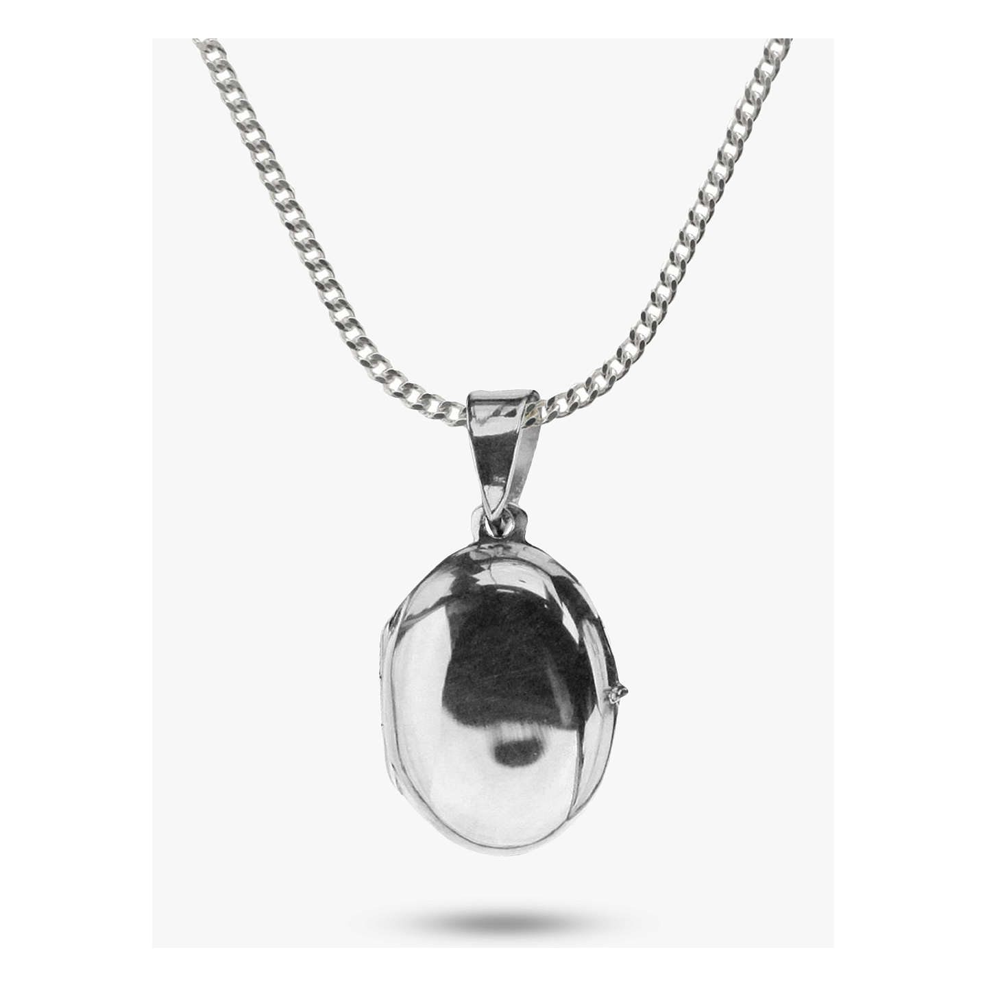 Nina b small sterling silver oval locket pendant necklace silver at buynina b small sterling silver oval locket pendant necklace silver online at johnlewis aloadofball